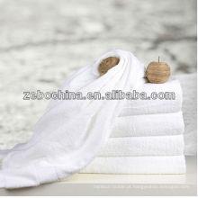 Toalha de rosto branca do hotel de alta qualidade do algodão 100% do logo disponível