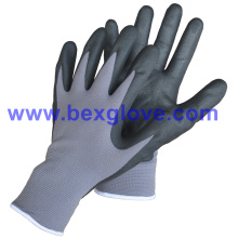 15gauge Nylon / Spandex Liner, Nitrile Coating, Micro-Foam Safety Gants