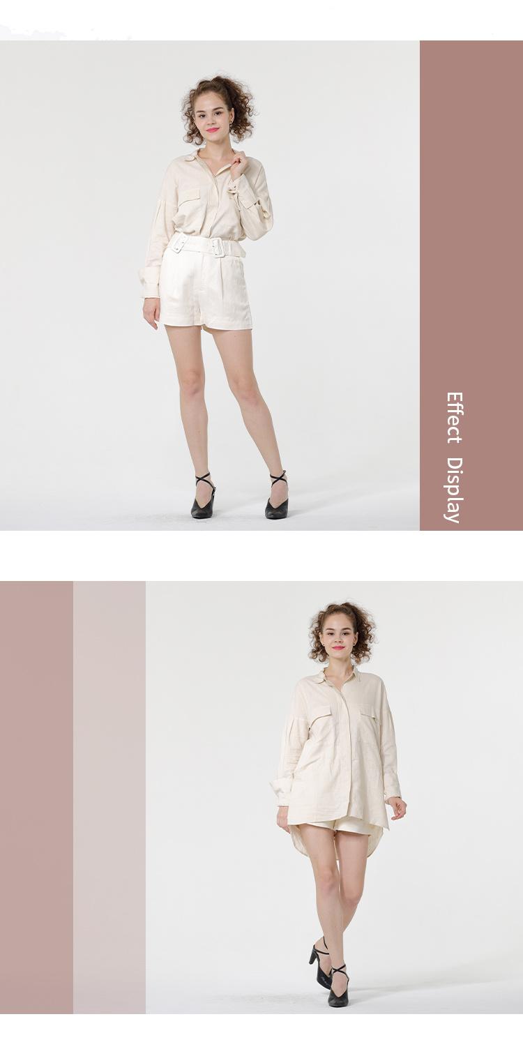 Lady's Long style Linen Shirt