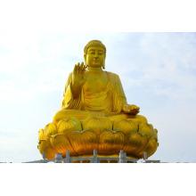 ao ar livre de alta qualidade de metal de bronze artesanato sentado alto buda estátua