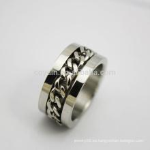 Guangdong personalizado cadena de acero inoxidable anillo para hombres
