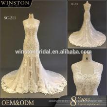 Поставка всех видов кружева лиф русалка свадебное платье 2017