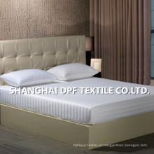 100% de algodão Stripe Design cabido folha