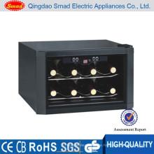 refrigerador doméstico del dispensador del vino de la botella del hogar 8 mini con congelar termoeléctrico