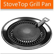 Non-Stick No Smoke Round BBQ Grillplatte mit LFGB-Zulassung