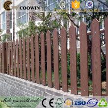 High strength wood plastic composite garden fence panel