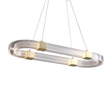Lustre rond blanc simple
