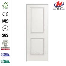 Solidoor Liso 2-Painel Quadrado Sólido Comprimido Composto Único Prehung Porta Interior