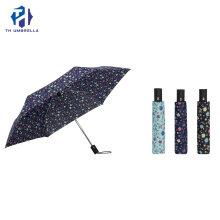 Hot Sale Automatic Printing 3 Fold Umbrella