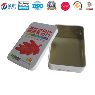 Embossing Printed Metal Food Packaging Box for Wholesale