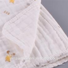 100% algodão impresso musselina swaddle roupas bebê cobertor swaddle