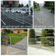 Barrera de control de multitudes / Barricada temporal / portátil / Barrera de control de multitudes galvanizada