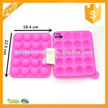 Molde de bolas de bolas de silicona molde Lolly con palos