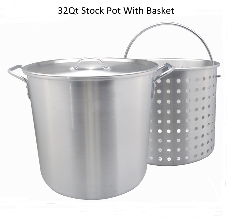 Aluminum Turkey Fryer Stock Pot 32 Quart