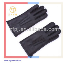 Nuevos hombres de la llegada mano-cosidos guantes de cuero clásicos