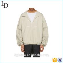 Wholesale High Quality Blank men milk White zip up hoodie