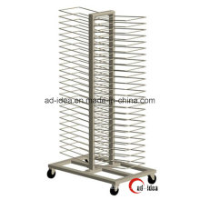 Rotatable Gondola Display Stand / Display with Casters (DG-12)