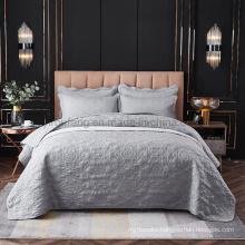 Hotel Bedding Silver Bed Linen Bedspread California King Comforter Set for All Season
