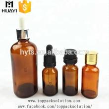 5ml 10 ml de vidrio ámbar de aceite esencial 30 ml de botella cuentagotas de vidrio para aroma con tapa a prueba de niños
