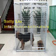 Jaula de perro galvanizada