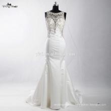 RSW906 Latest Dress Designs Photos Rhinestones Beaded Sheer Back Hand Embroidery Alibaba Wedding Dress 2016 Mermaid