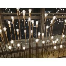 Стеклянная медная лампа для внутреннего освещения