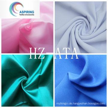 100% Polyester Satin Stoff / Minimatt Stoff / Pongee Stoff / Taft Stoff