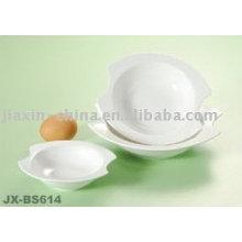 Bol à oeufs en porcelaine blanche JX-BS614