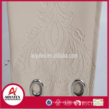 luxury 3D embossed curtain for window shades