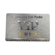 RFID Customized Plastic Silver PVC Smart  Cards