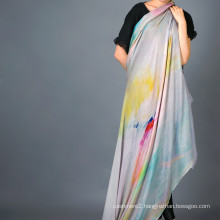 Cashmere Modal Blended Shawl, Digital Printed Scarf