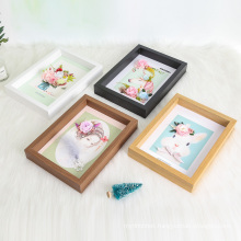 Customized multi-size photo display cabinet photo frame wall-mounted free standing medal display shadow box photo frame