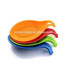 Resistente ao calor durável silicone acessório cozinha colher titular