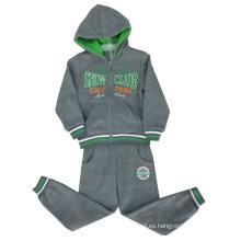 Trajes de pista de niño de algodón en ropa de niños en rebeca Trajes de niño encapuchado Swb-107