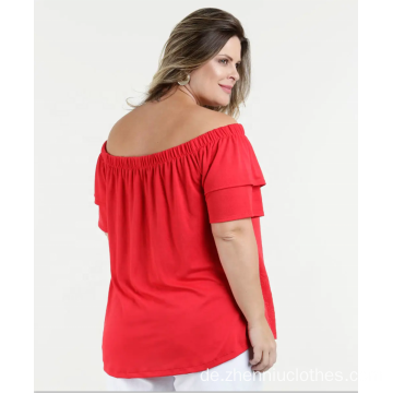 OEM Frauen Plus Size Off Schulter Schulter Bluse