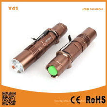 Y41 High Power Xml T6 LED torche rechargeable en aluminium