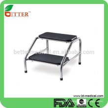 2 layers stainless steel step stool for patients
