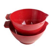 2PCS Red Melamine Mixing Bowl Set