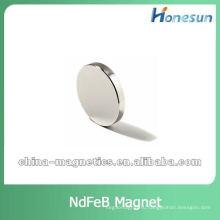 сильный плоский неодимовые магниты диска для моторов гальваническим цинк/никель