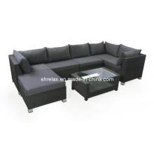 Мебель плетеная патио диван гостиной набор Сад Открытый ротанга