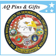 Fallen Heroes Woven Labels with Round Shape