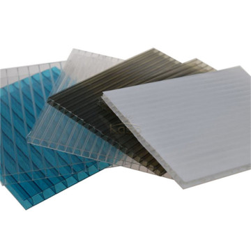 Feuille de polycarbonate multi-parois en plastique transparent flexible