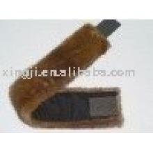peau de fourrure de vison véritable couleur brun naturel bandeau de fourrure de vison
