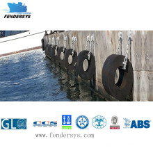 with Various Size Cylindrical Rubber Dock Fender