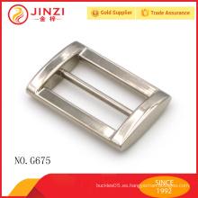 Personalizar bolsos de alta calidad de diseño de metal cuadrado hebillas