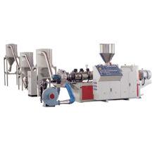 Máquina de granulação wpc em pó de madeira + PVC