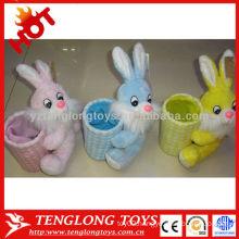 cheap fashion cute lovely rabbit plush pen holder for kids