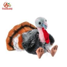 Juguete de peluche animado rellenado personalizado de la Navidad Turquía