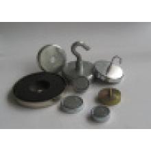 Nickel Coated Neodymium Female Thread Pot Magnet (UNI-Pot-io3)