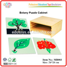 Montessori Materials -3 Level Botany Cabinet with 3 Botany Puzzles